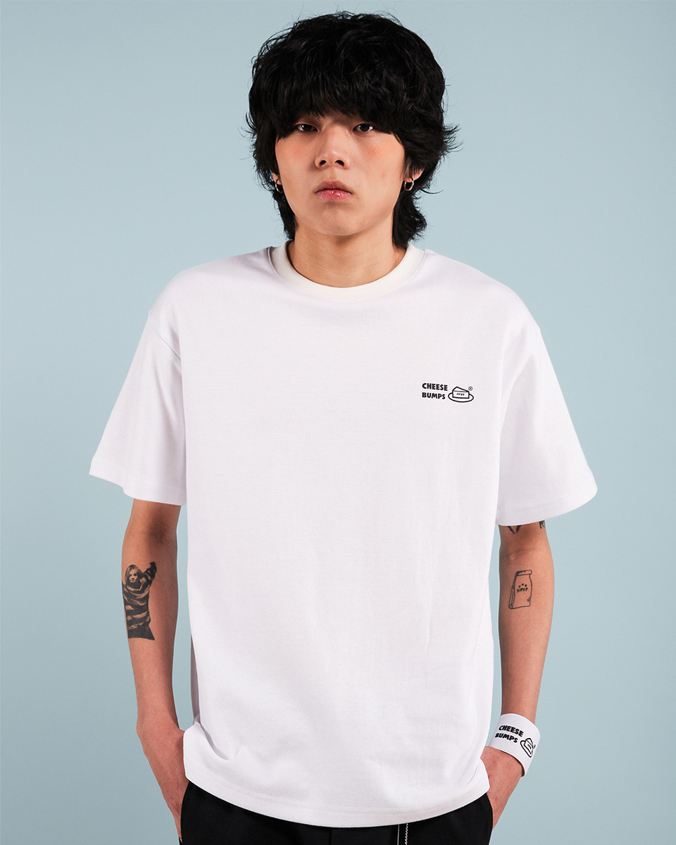Pepperseasoning페퍼시즈닝 BUMPS T-SHIRT / WHITE