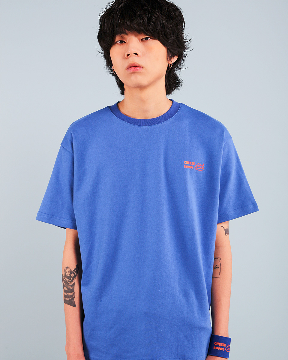 Pepperseasoning페퍼시즈닝 BUMPS T-SHIRT / BLUE