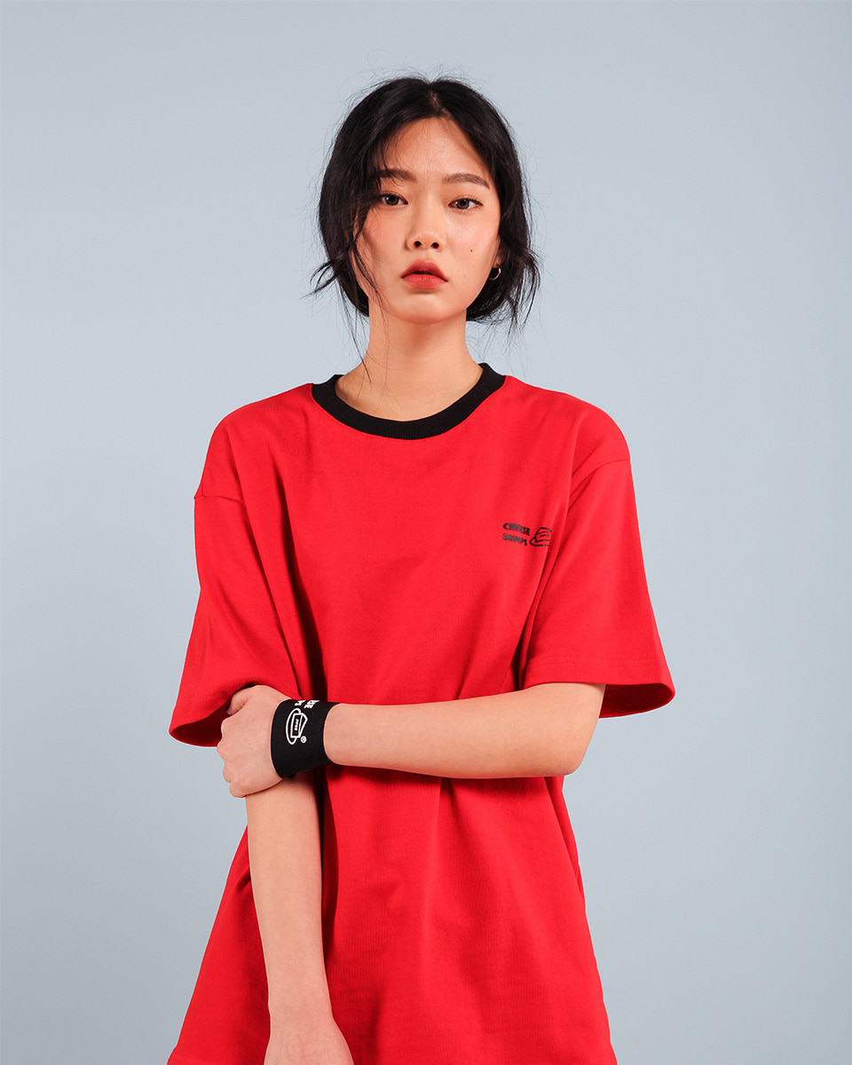 Pepperseasoning페퍼시즈닝 BUMPS T-SHIRT / RED