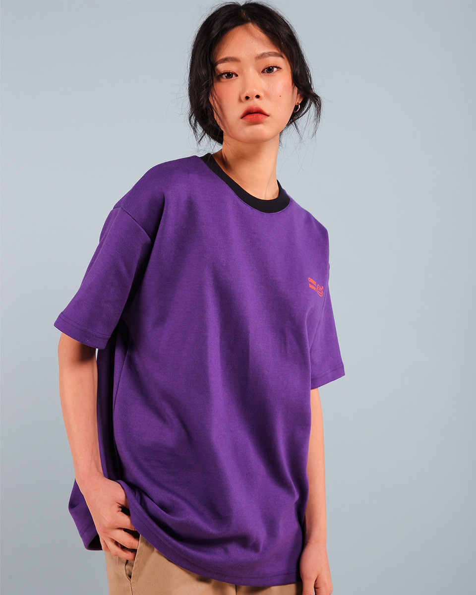 Pepperseasoning페퍼시즈닝 BUMPS T-SHIRT / PURPLE