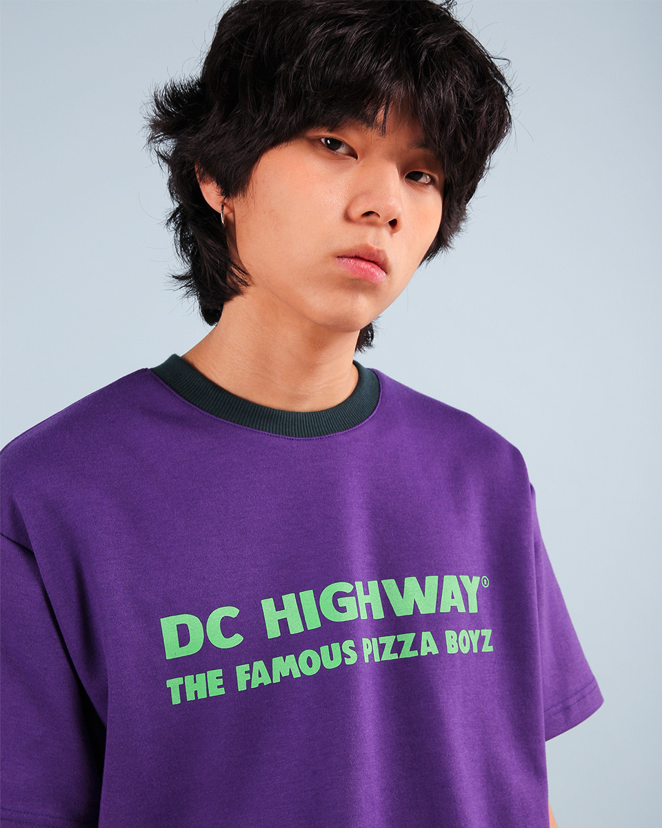 Pepperseasoning페퍼시즈닝 DC BOYZ T-SHIRT / PURPLE