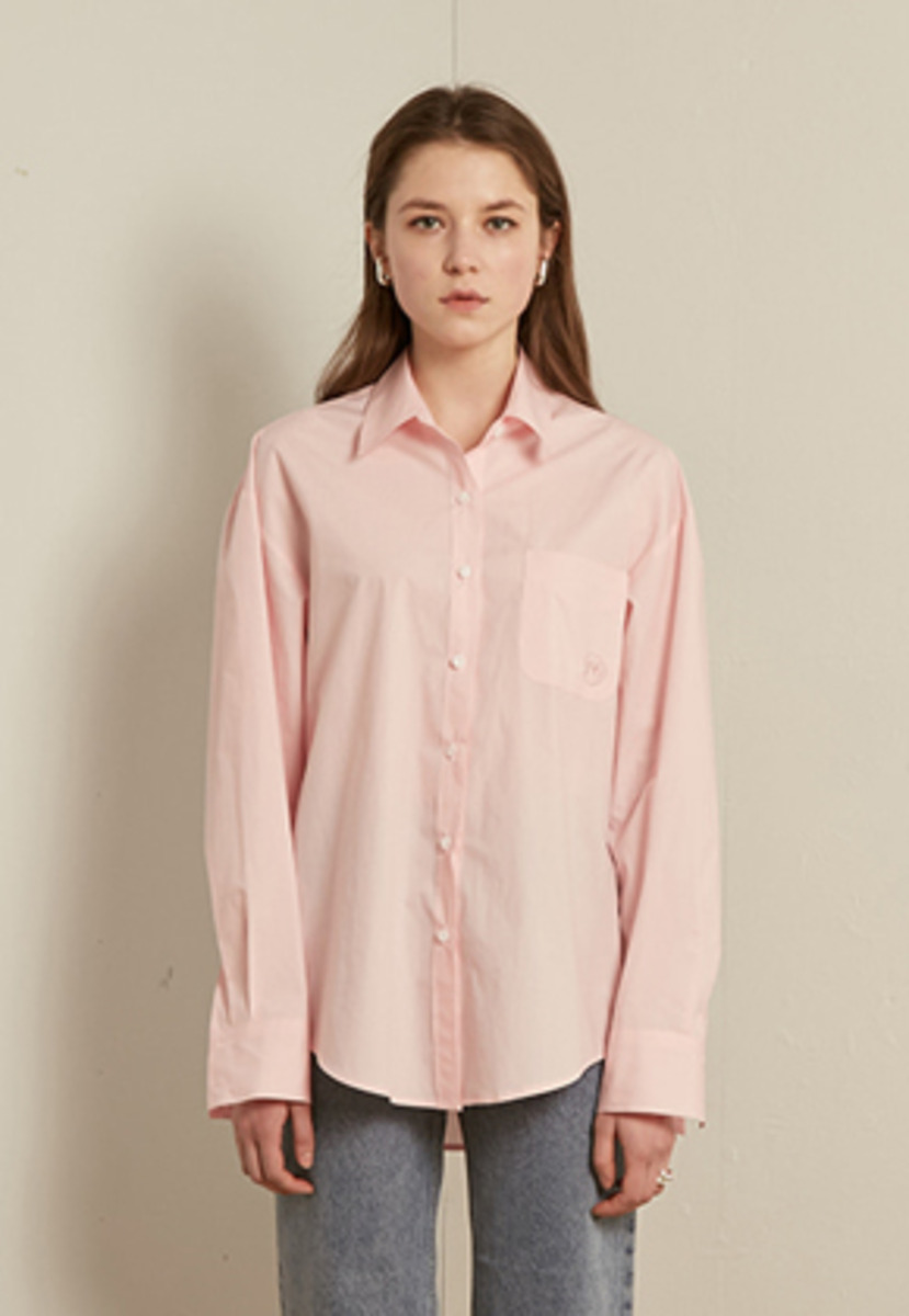 TMO BY 13Month 티엠오 바이 써틴먼스 SOLID COTTON SHIRT (LIGHT PINK)
