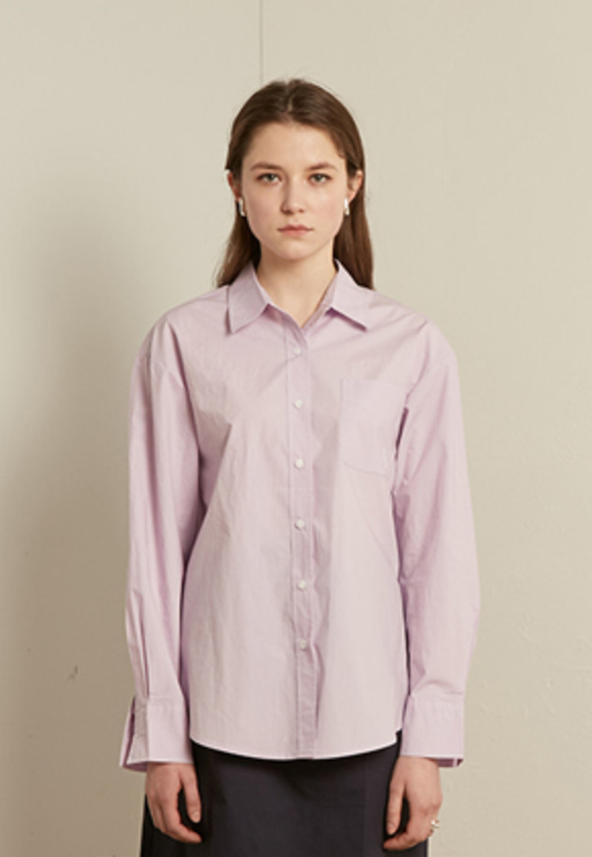 TMO BY 13Month 티엠오 바이 써틴먼스 SOLID COTTON SHIRT (PURPLE)