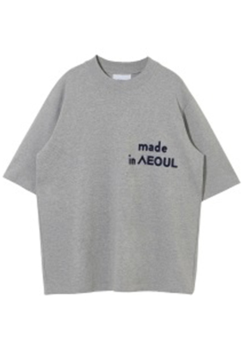 NOHANT노앙 MADE IN SEOUL T SHIRT GRAY