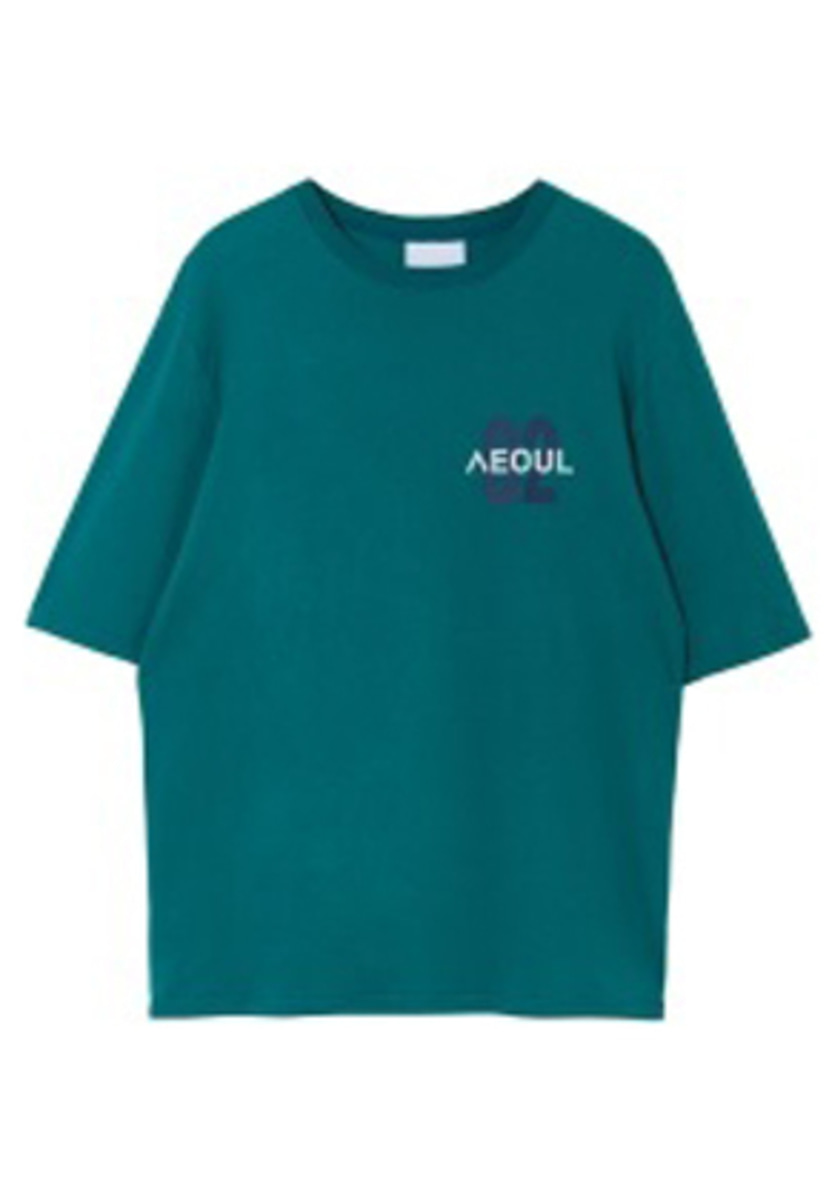 NOHANT노앙  02 SEOUL T SHIRT BLUEGREEN