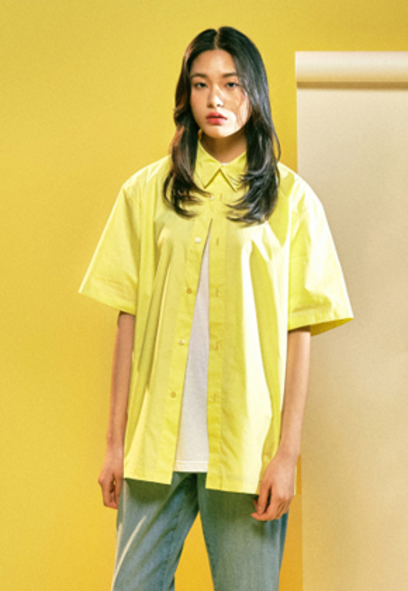 MMGL미니멀가먼츠랩 Cotton half sleeves shirts (Lemon)