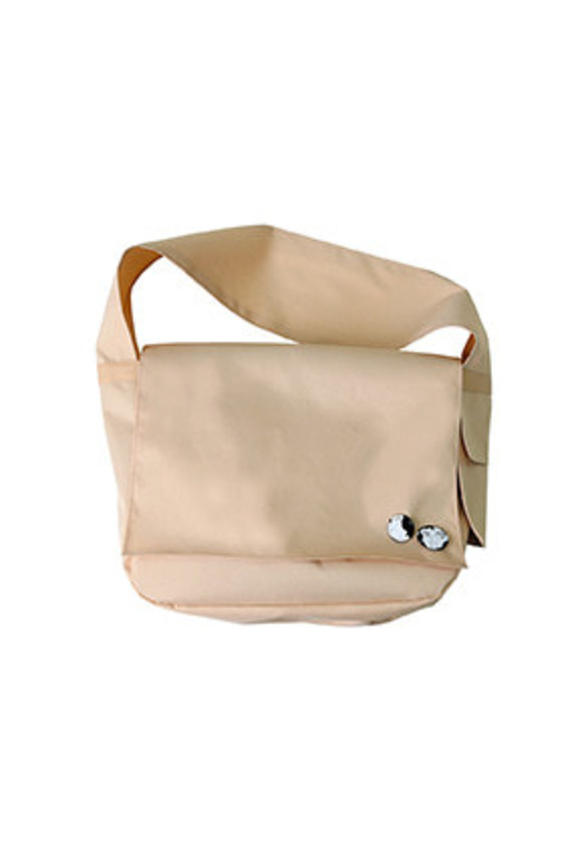 AJO BY AJO아조바이아조 Plain Messenger Bag [Beige]