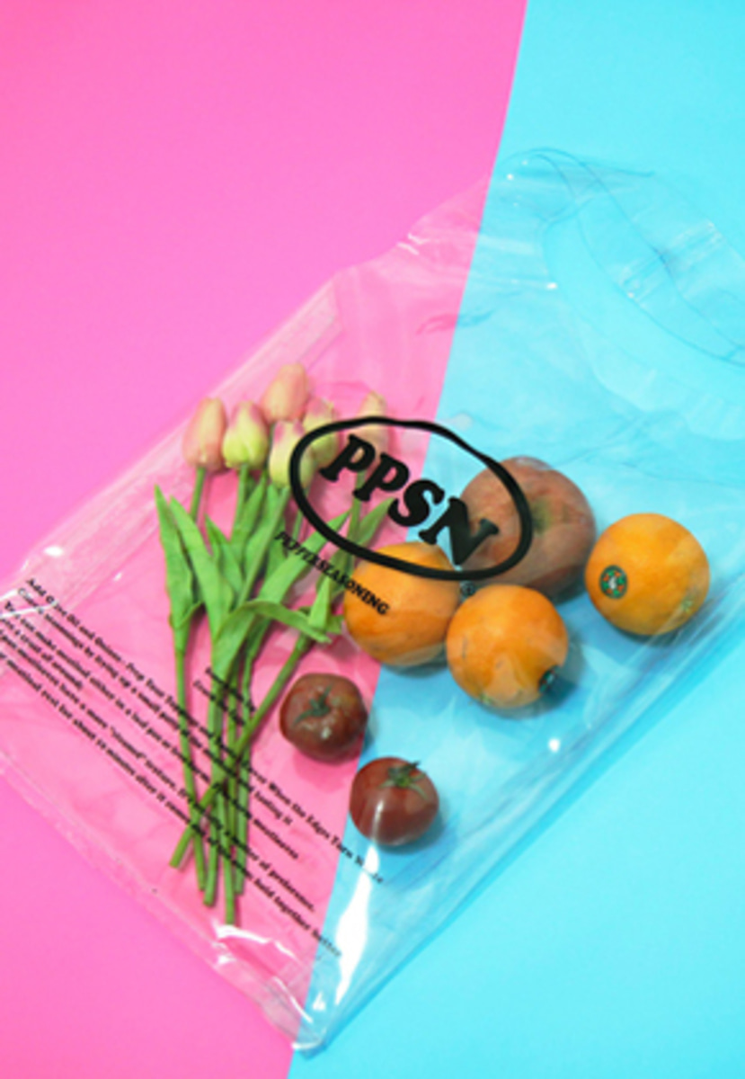 Pepperseasoning페퍼시즈닝 PPSN PVC SHOPPER BAG