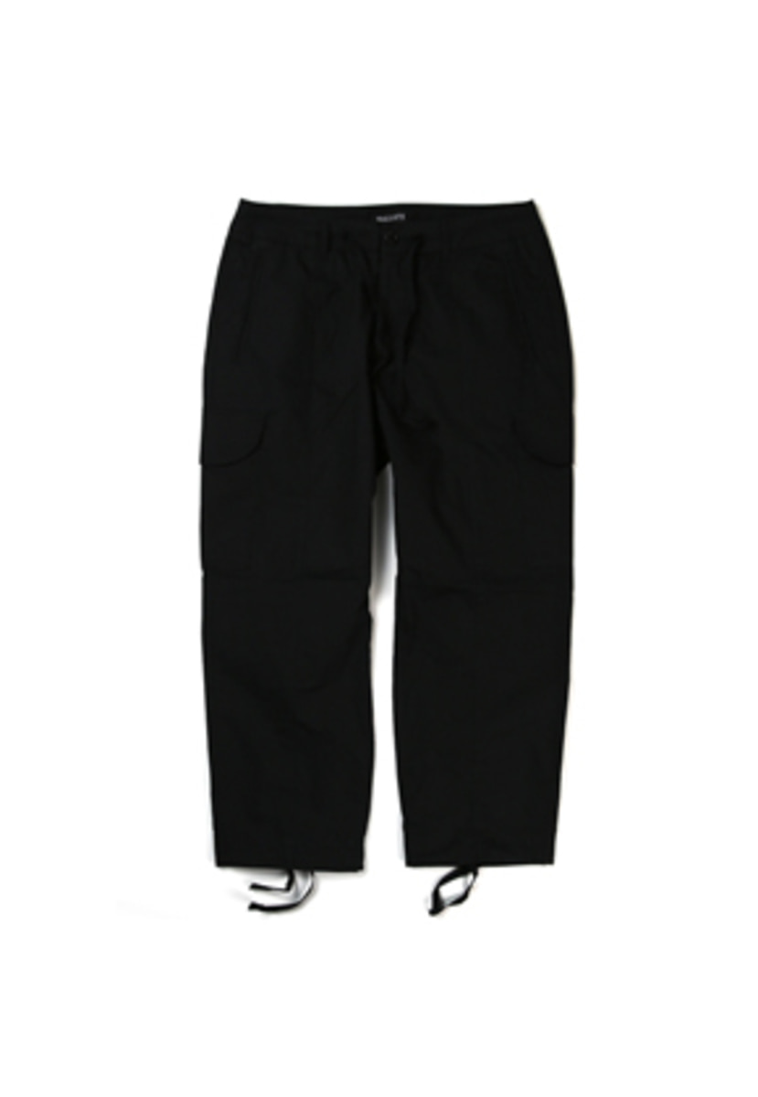 Ballute발루트 STRING CROPPED CARGO PANTS (black)