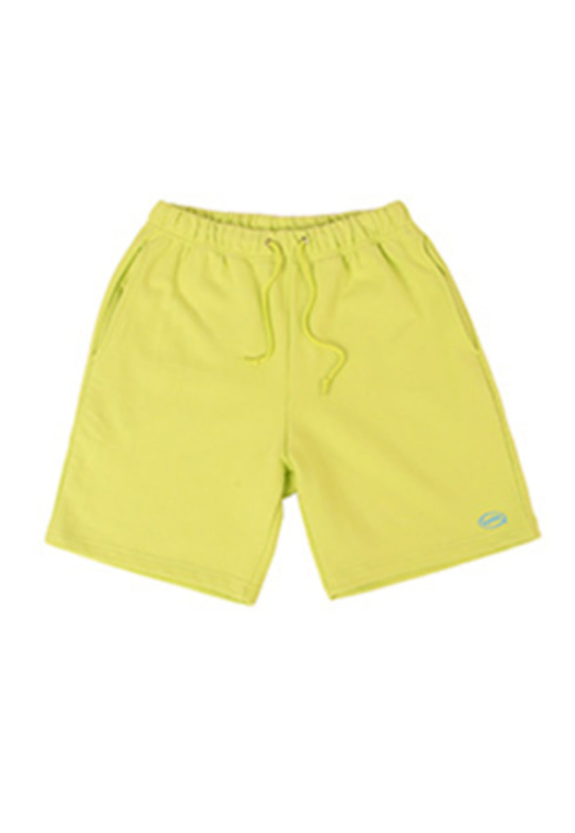 A Piece Of Cake어피스오브케이크 Oval Logo 1/2 Pants_Lime
