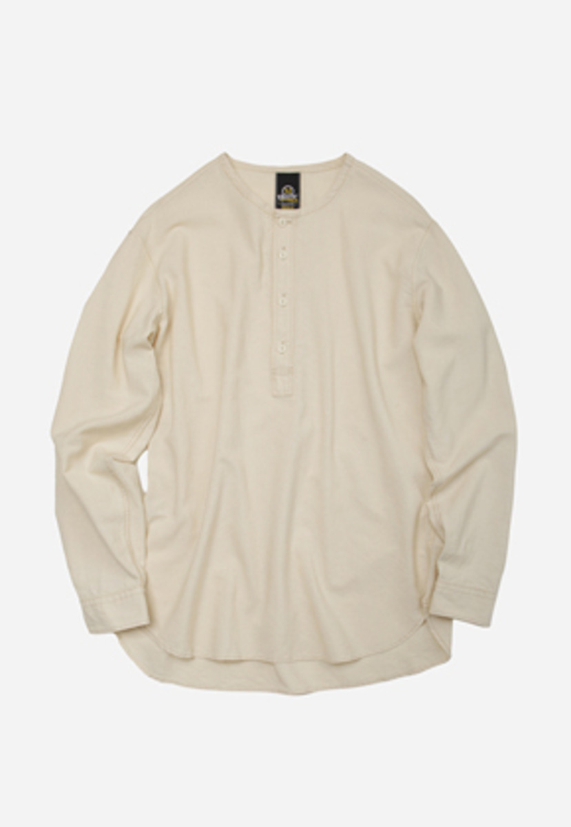 FRIZMWORKS프리즘웍스 Low density henley neck shirt _ ivory