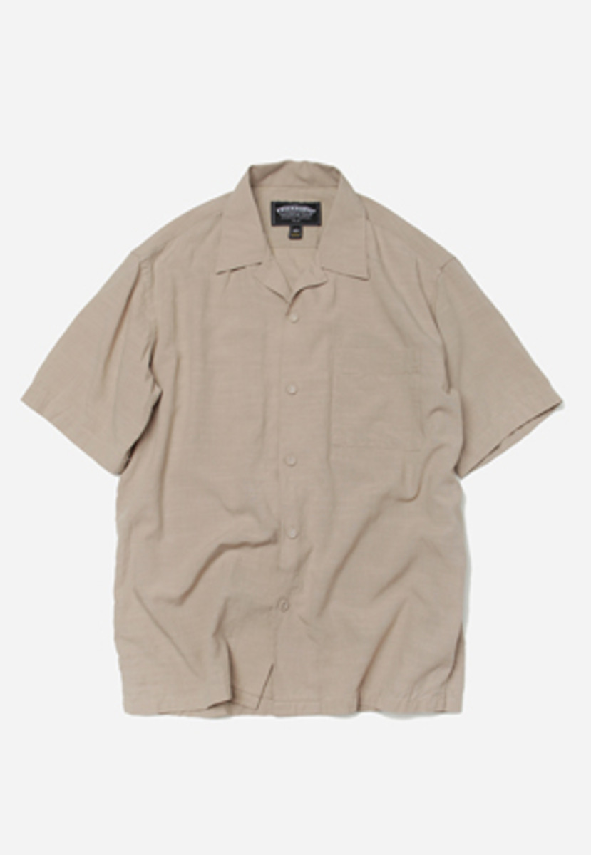 FRIZMWORKS프리즘웍스 Feature open collar shirt _ beige