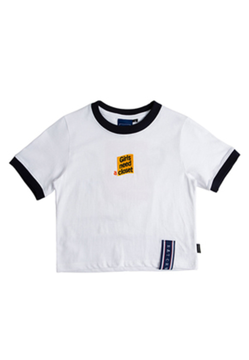 Romantic Crown로맨틱크라운 GNAC Crop T Shirt_White