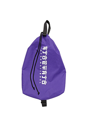 AJO BY AJO FINK LABEL CH Logo Drawstring Bag[Purple]