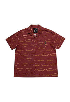 AJO BY AJO FINK LABEL ABA CH18 Half Sleeve Shirt[Burgundy]