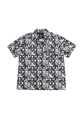 AJO BY AJO아조바이아조 Mugshot Half Sleeve Shirt[Black]