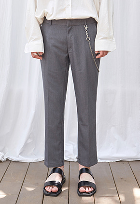Yan13얀써틴 BASE STRAIGHT FIT SLACKS_CHARCOAL
