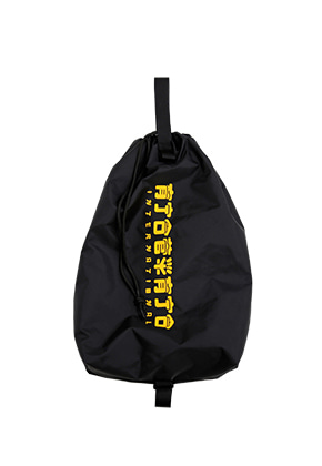 AJO BY AJO아조바이아조 CH Logo Drawstring Bag [Black/Yellow]