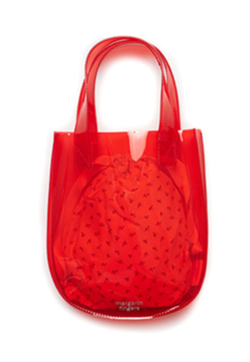 Margarin Fingers마가린핑거스 ROUND PVC TOTE BAG (RED)