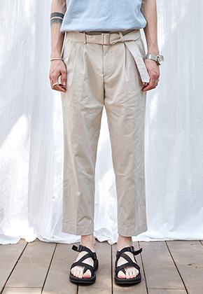 Yan13얀써틴 BT SETUP COTTON PANTS_BEIGE