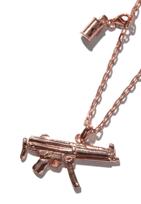 Kruchi크루치 Mp5 & M18 smoke necklace (silver,14k pink gold plated)