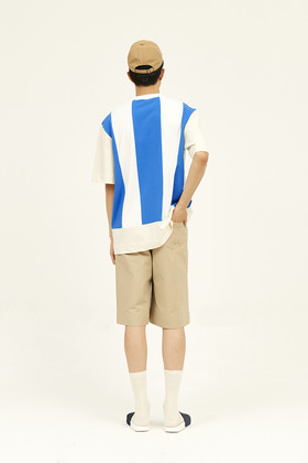 SEC세크 [Unisex] Colour Blocked T-Shirt _ Azure Blue