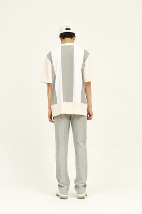 SEC세크 [Unisex] Colour Blocked T-Shirt _ Grey