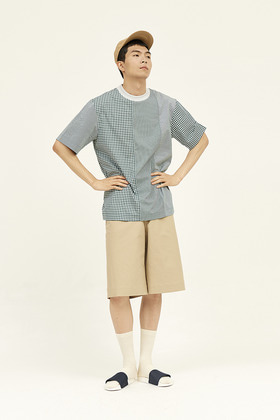 SEC세크 [Unisex] Pixelated Shirting Top _ Sea Green