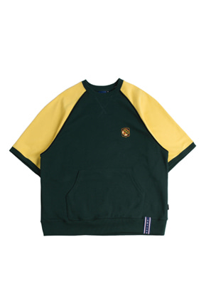 Romantic Crown로맨틱크라운 Raglan Piping T Shirt_Green