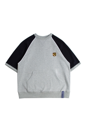 Romantic Crown로맨틱크라운 Raglan Piping T Shirt_Grey
