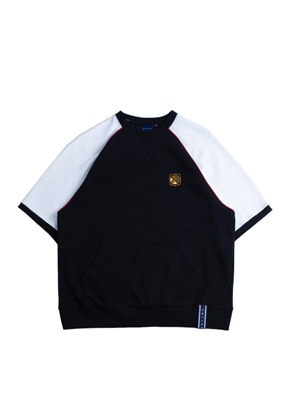 Romantic Crown로맨틱크라운 Raglan Piping T Shirt_Navy