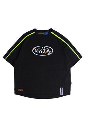 Romantic Crown로맨틱크라운 Shoulder Line Jersey_Black