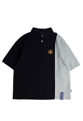 Romantic Crown로맨틱크라운 Piping Polo Shirts_Navy