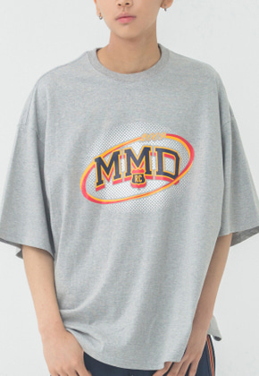 Romantic Crown로맨틱크라운 MMD Dot Logo T Shirt_Grey