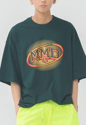 Romantic Crown로맨틱크라운 MMD Dot Logo T Shirt_Green