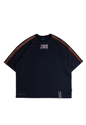Romantic Crown로맨틱크라운 Shoulder Line Banding Jersey_Navy
