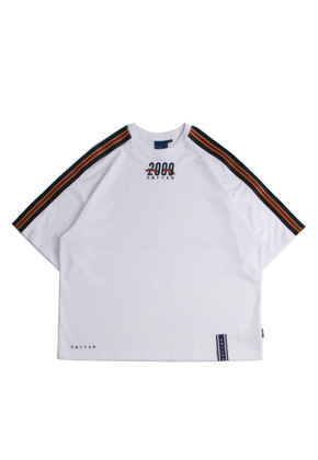 Romantic Crown로맨틱크라운 Shoulder Line Banding Jersey_White
