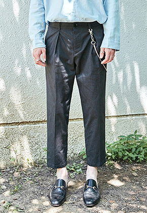 Yan13얀써틴 BOKASHI TAPERED-FIT SLACKS_CHARCOAL