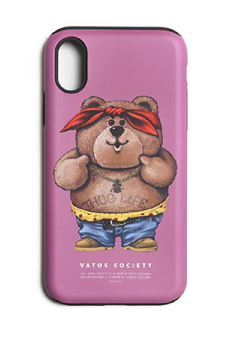 Stigma스티그마 PHONE CASE THUG BEAR PINK iPHONE 8 / 8+ / X