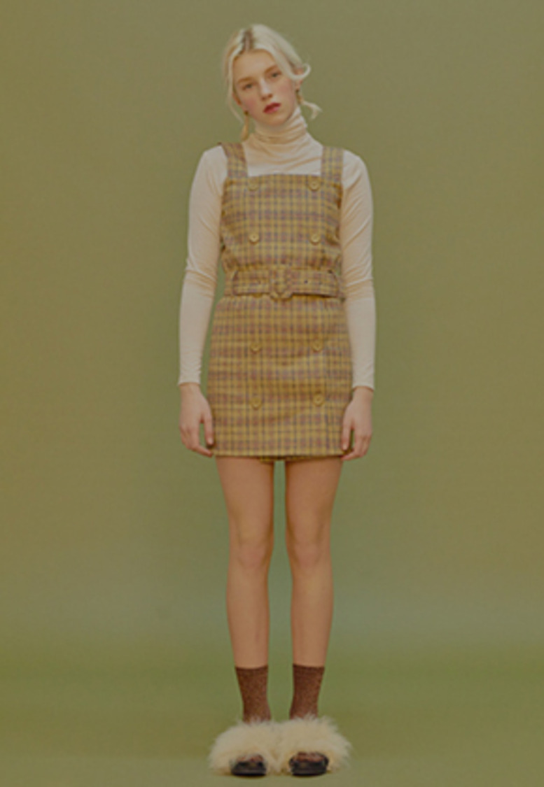 Margarin Fingers마가린핑거스 SHINING CHECK ONE-PIECE