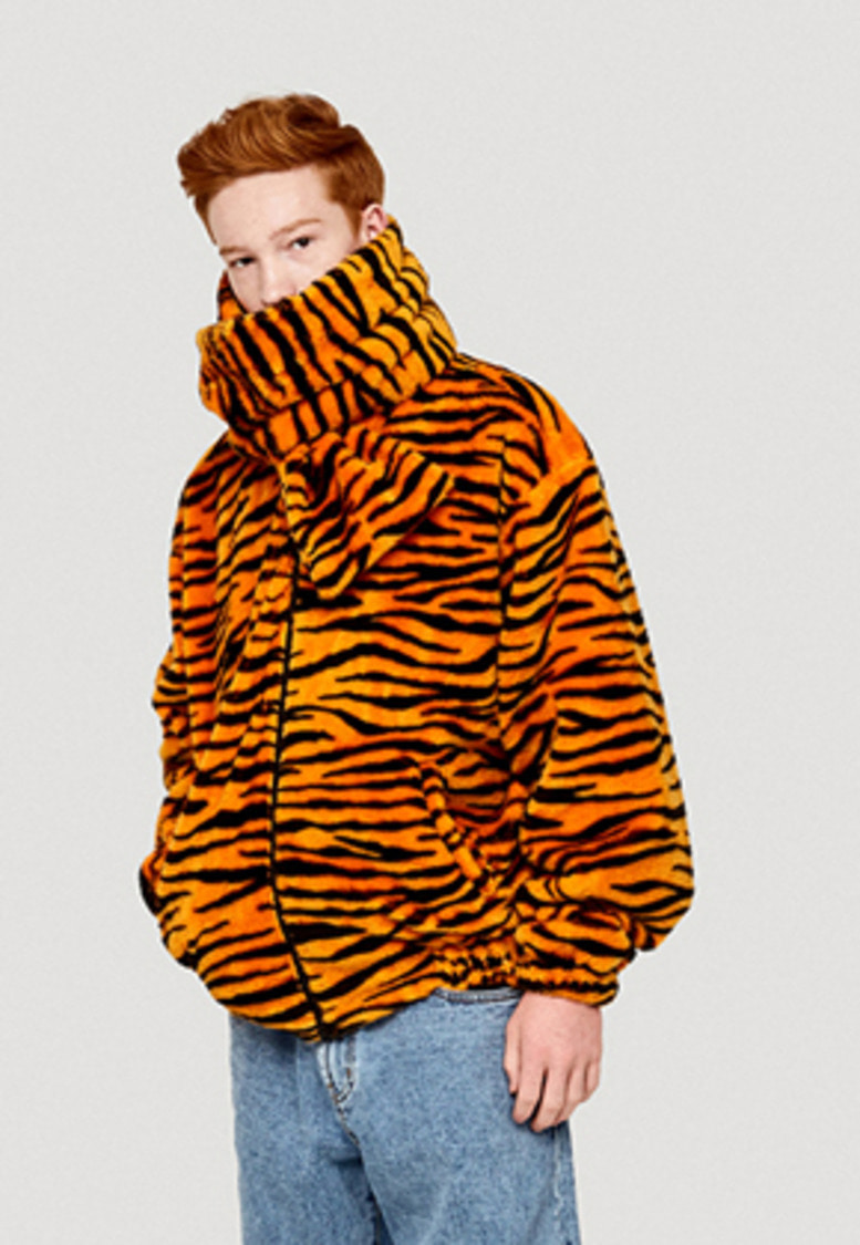 WKNDRS위캔더스 TIGER FUR PATTERN JK (ORANGE)
