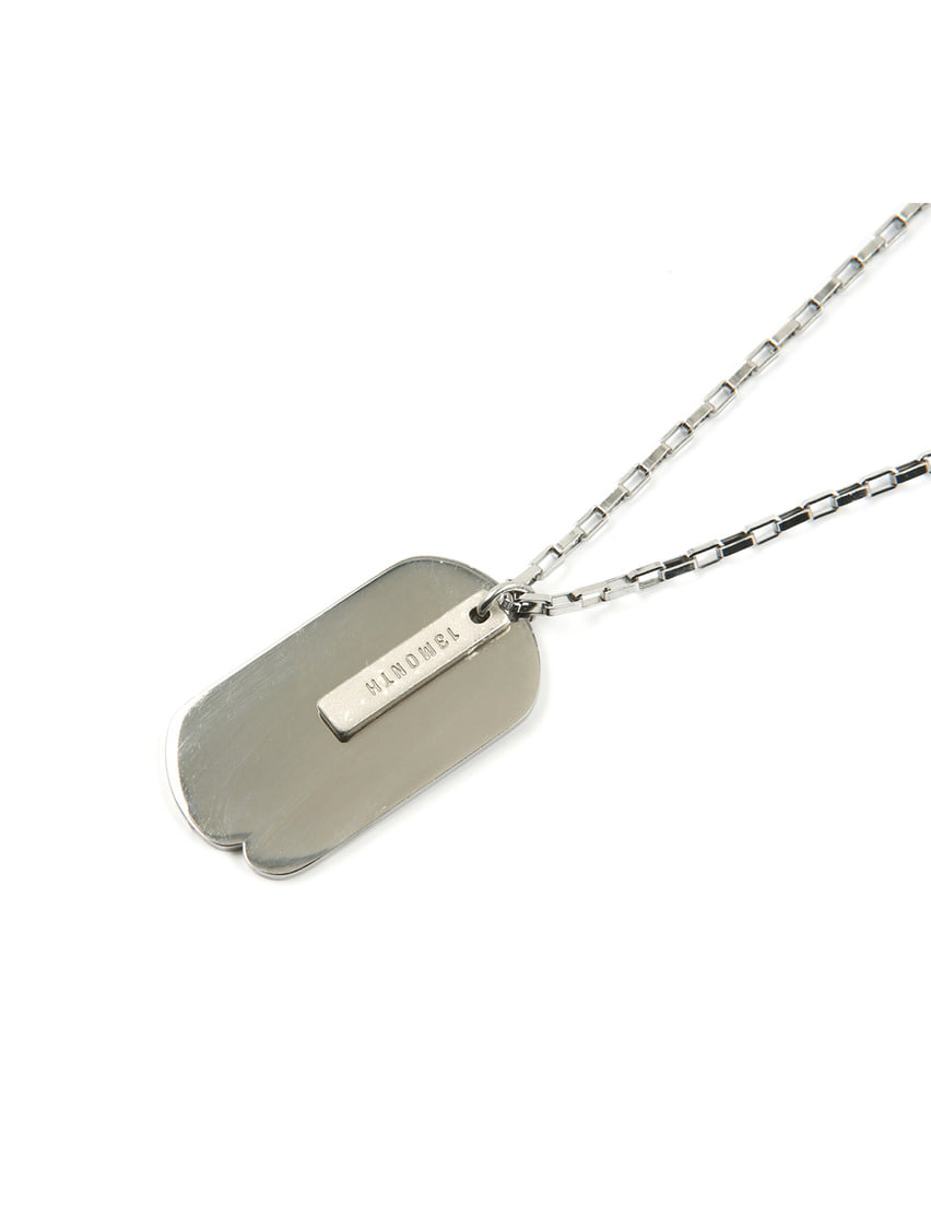 13Month써틴먼스 SQUARE CHAIN NECKLACE (SILVER)