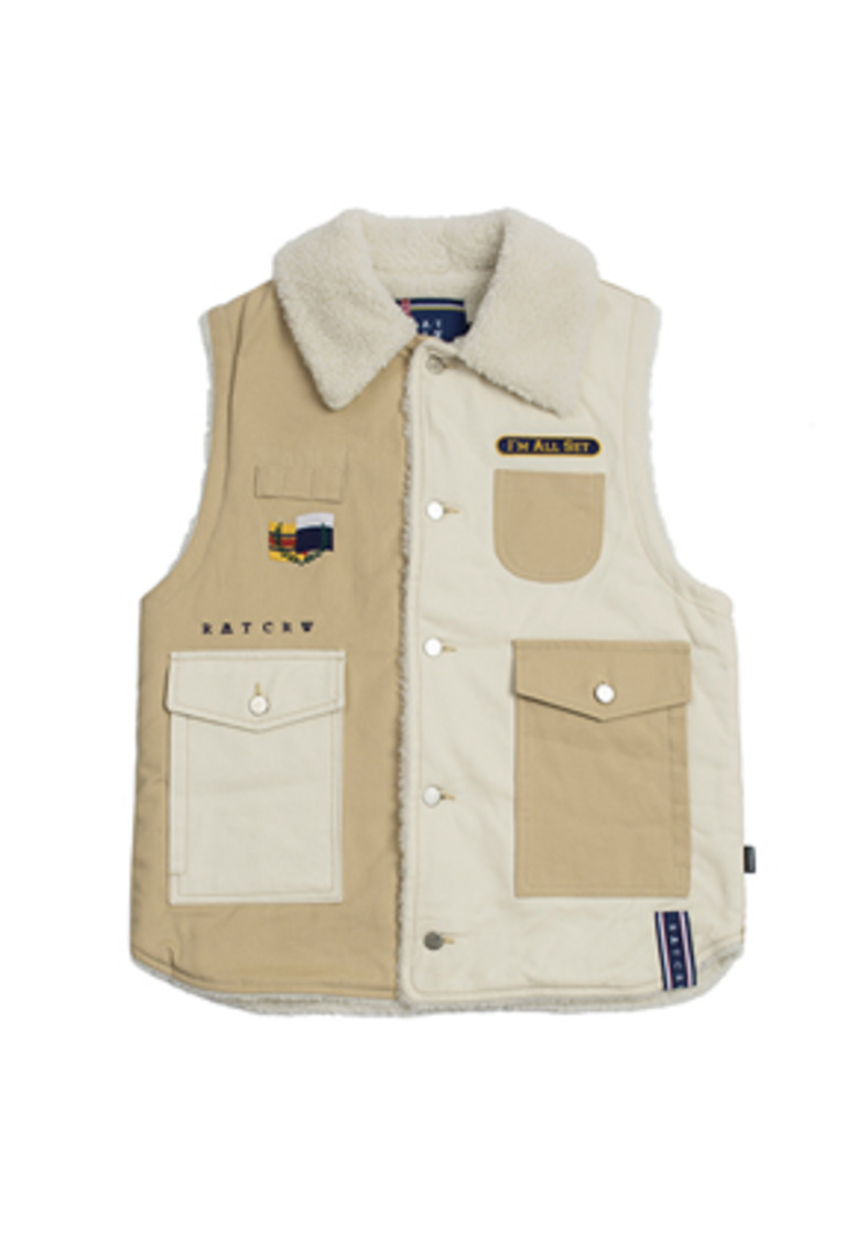 Romantic Crown로맨틱크라운 Retro Hunting Vest_Beige