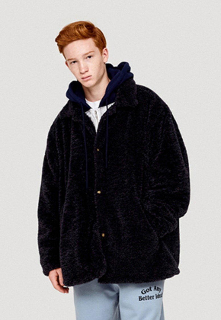 WKNDRS위캔더스 FUR COACH JACKET (NAVY)