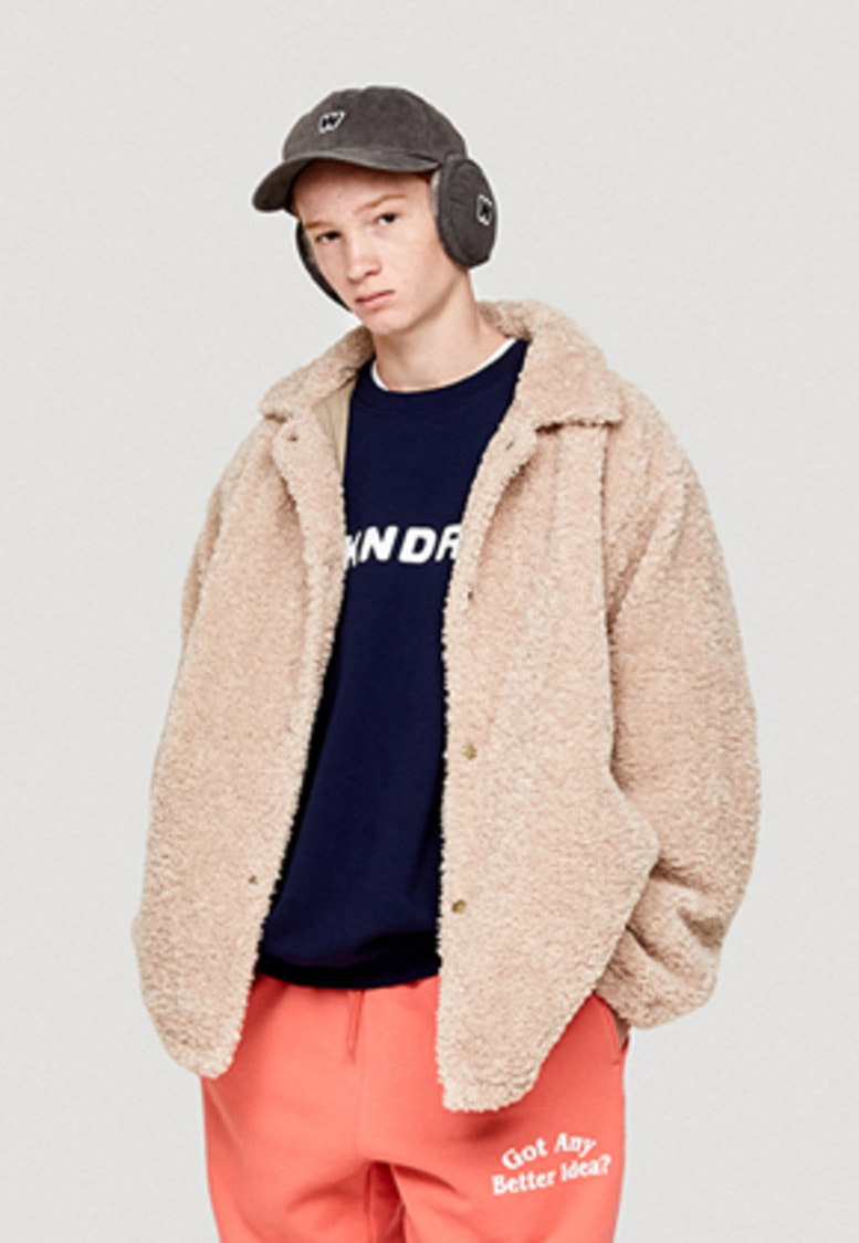 WKNDRS위캔더스 FUR COACH JACKET (BEIGE)