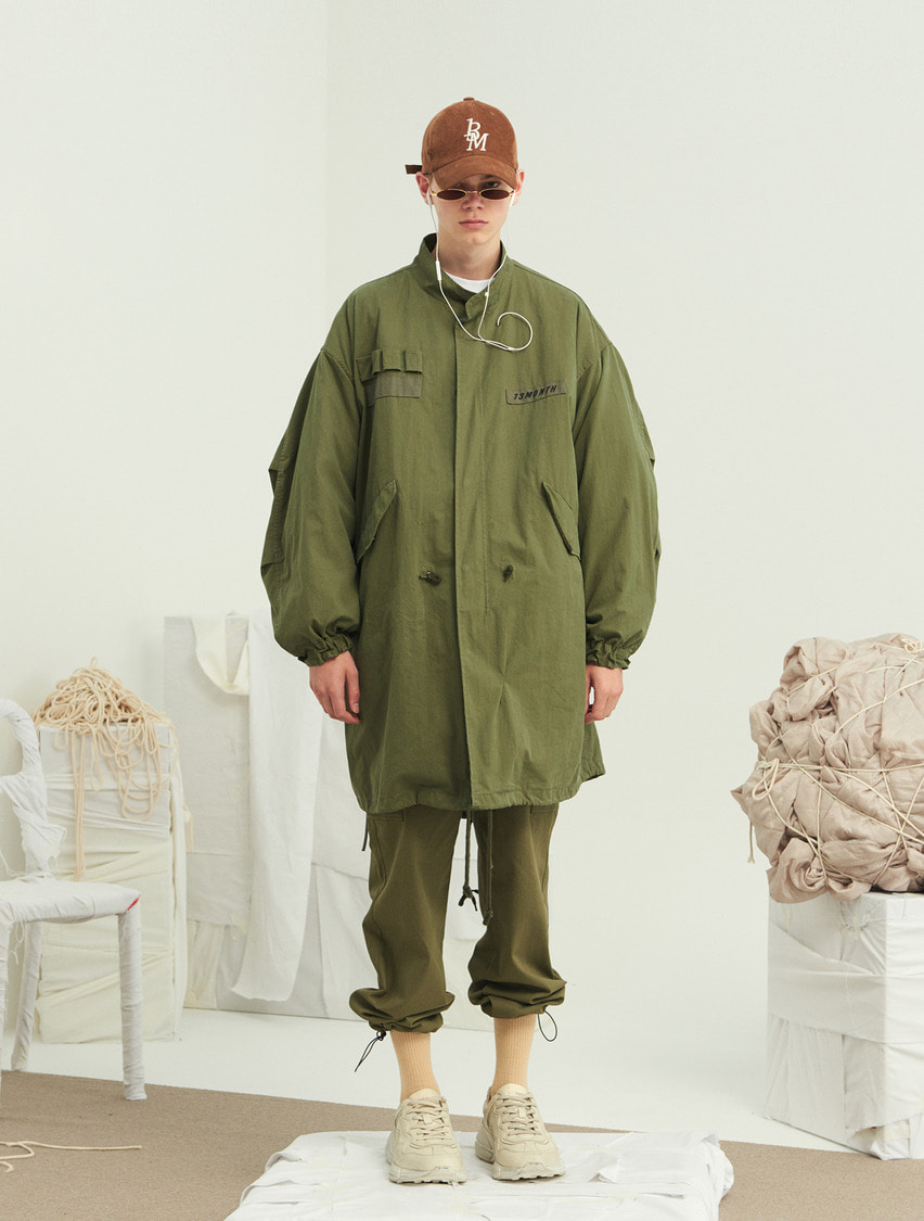13Month써틴먼스 EMBROIDERY LONG FIELD JACKET (KHAKI)