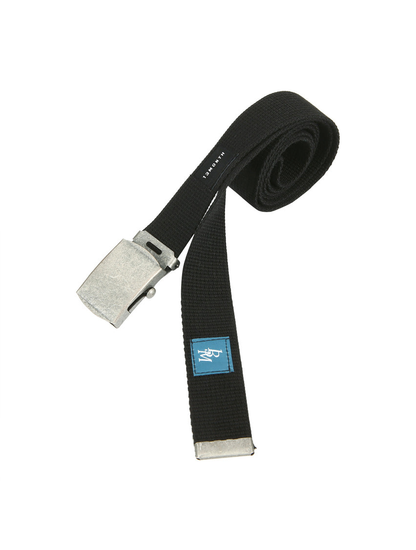 13Month써틴먼스 SQUARE BUCKLE WEBBING BELT (BLACK)