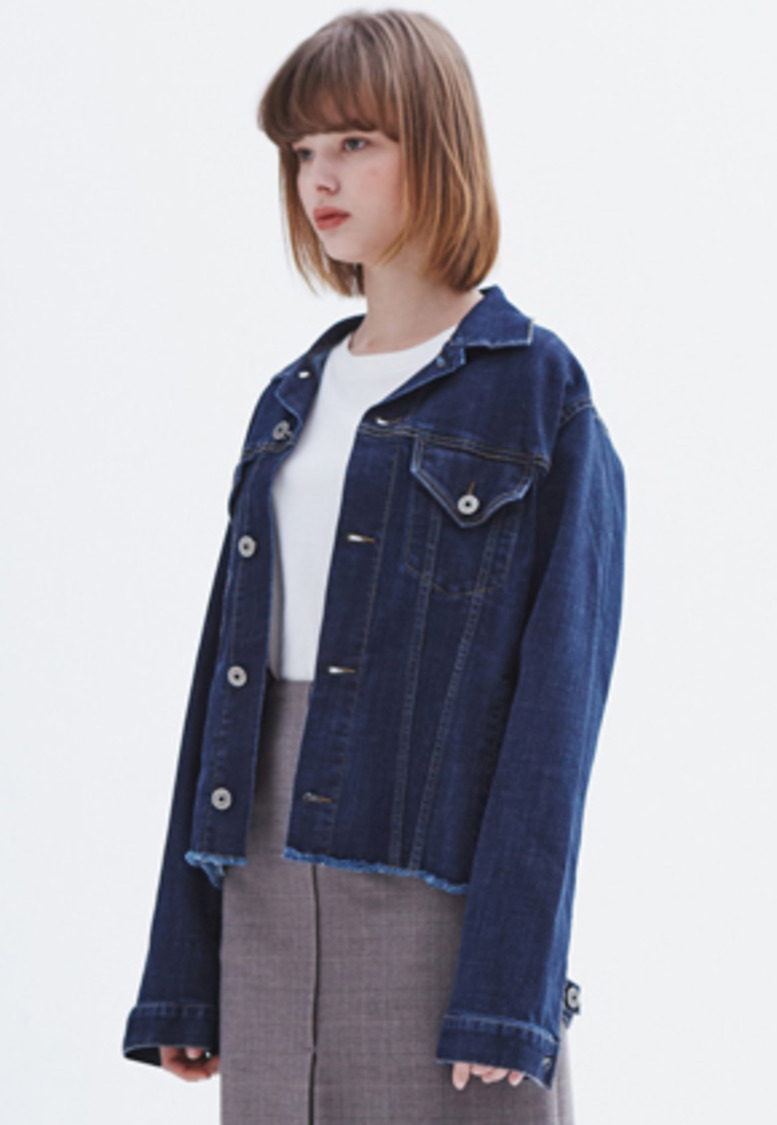 MMGL미니멀가먼츠랩 Women's oversized denim jacket (Blue)