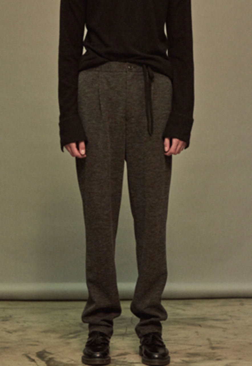NOHANT노앙 JERSEY TROUSER DARK GRAY