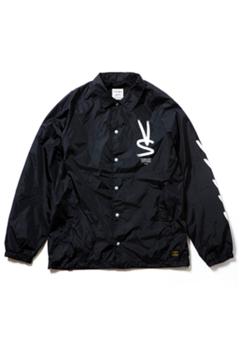 Stigma스티그마 PAINT OVERSIZED COACH JACKET BLACK
